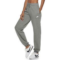 Women's Nike Sportswear Fleece Pants, Size: XL, Grey Best Picture For champion sweatpants outfits Fo Nike Outfits, Nike Women Sweatpants, Jogger Outfit, Cute Sweatpants Outfit, Cute Pants, Teen Fashion Outfits, Teenage Outfits, Gray Sweatpants, Nike Jeans