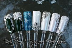 Custom Christmas Artificial Nail Art by KaitlinsDesignerNail