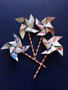 DIY Kids Pinwheels Craft - a fun arts & crafts activity kids can make with spin art *great tutorial