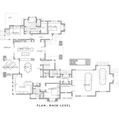 Craftsman Style House Plan - 4 Beds 3.50 Baths 3476 Sq/Ft Plan #892-7 Floor Plan - Main Floor Plan - Houseplans.com