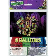 Teenage Mutant Ninja Turtles ~ (8) Printed Latex Balloons ~Birthday Supplies