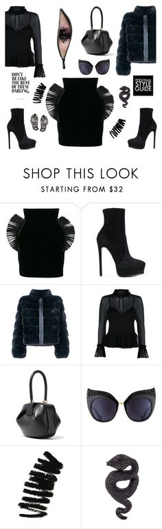"""Personal style guide"" by zabead ❤ liked on Polyvore featuring RVDK, Casadei, Liska, Maje, Gabriela Hearst, Guide London, Anna-Karin Karlsson, Bobbi Brown Cosmetics, Lydia Courteille and Plukka"