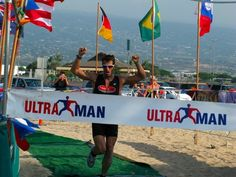"Rich Roll - Crossing the ""Finish Line"" at Ultraman, Hawaii. #richroll"