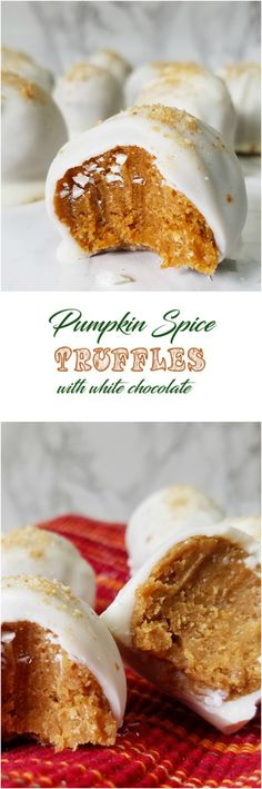 Pumpkin Spice Truffles with white chocolate ~ Rumbly in my Tumbly