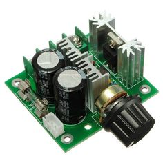 12V-40V 10A Modulation PWM DC Motor Speed Control Switch Governor Features: Control the speed of a DC motor with this controller. High efficiency, high torque, low heat generating. With reverse polarity protection, high current protection. Working Voltage: DC 12V – DC 40V. Control...