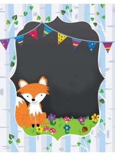 Forest Party, Woodland Party, Fox Coloring Page, Woodland Animals Theme, Birthday Wall, Woodland Christmas, Classroom Themes, Baby Cards, In Kindergarten