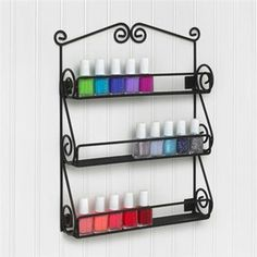 <strong>Spectrum Diversified</strong> Scroll Wall Mount Nail Polish Holder