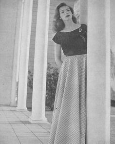 Lauren Bacall, Harper's Bazaar, 1945.....Uploaded By  http://www.1stand2ndtimearound.etsy.com