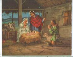 Gravura Antiga - Natal - Anos 50 - Medindo 28 X 23cm. - R$ 15,00 no MercadoLivre