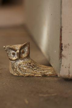 antique white cast iron owl doorstop                                                                                                                                                                                 More