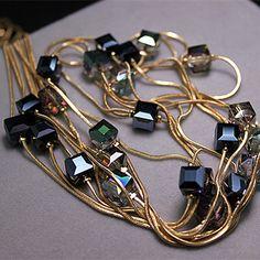 Châu Âu thời trang tinh thể đồ trang sức phụ kiện, austrian tinh thể hạt vòng cổ dài áo len chuỗi dây chuyền mặt dây chuyền cho phụ nữ
