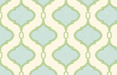 Alessandra Trellis in Blue and Green fabric by sparrowsong on Spoonflower - custom fabric
