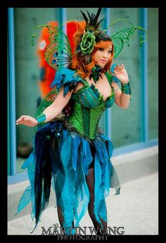 Absinthe Fairy original costume designed/made/modeled by Yaya Han, photographed by Martin Wong