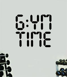 Gym Time Fitness Wall Decal Home Decor Bedroom Room Vinyl Sticker Art Teen Work Out Quote Beast Lift Strong Inspirational Motivational Health School - teal