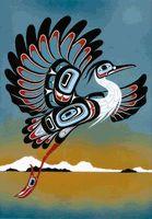 Early Morning by Yukie Adams Indian Folk Art, American Indian Art, Native American Art, Arte Haida, Haida Art, Arte Tribal, Tribal Art, Tatoo Bird, Art Populaire