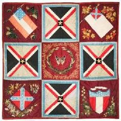 Quilt commemorating the Confederacy by Varina Davis, about 1880---collection of the Museum of the Confederacy.