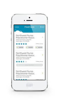 """Smart Thermometer """"Find Care"""" feature - esp. good for parents to find pediatricians. #healthy"""