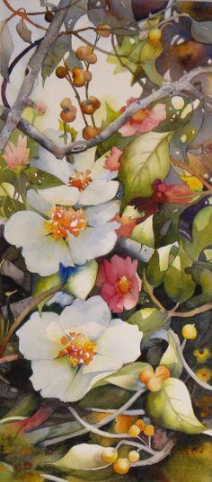 Norma Bradley-Walker Gallery - Florals - reminds me of my grandmas water color paintings Botanical Art, Botanical Illustration, Illustration Art, Illustrations, Watercolor Flowers, Watercolor Paintings, Watercolours, Arte Floral, Art Graphique