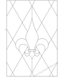 Image result for fleur de lis stained glass pattern