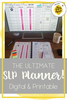 This speech therapy planner can be digital or printable. It's the ultimate create your own SLP planner for data collection and paperwork.