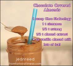 Chocolate Covered Almonds Shake | From Forks to Fitness, Shakeology, 21 Day Fix