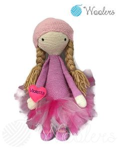 Princess inspired by Lalylala / Crochet Doll / Handmade Amigurumi / Amigurumi animal/doll von WoolersPL auf Etsy Crochet Dolls, Teddy Bear, Etsy, Inspired, Vintage, Princess, Trending Outfits, Unique Jewelry, Handmade Gifts