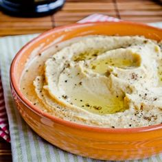 Creamiest Hummus ~ try replacing the tahini with Greek Yogurt ~ makes it even creamier!