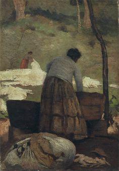 """""""Lavadeiras"""".  (1891). (by Eliseu Visconti)."""