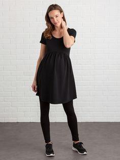 80c5b25ee561 Vestido de embarazo de punto - Burdeos+Crudo Estampado+Negro+Negro Con  Lunares+Rayas Azules+Rojo - 8