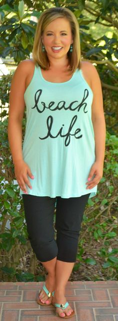 Beach Life Tank - Perfectly Priscilla Boutique