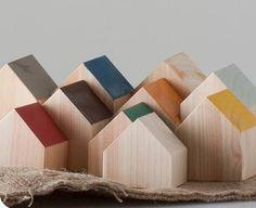 Wood House Block set.