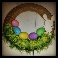 Burlap - Easter Wreath @ Plucky's Second Thought