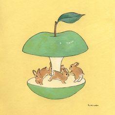 by Schinako Moriyama #Eat #Apple