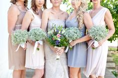 Pastel #BridesmaidDresses look so great in the summer months. See more here: www.outerinner.co... #OuterInner