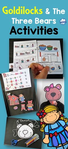 """I can see"" Interactive Goldilocks and the three bears book and activities will outline the story elements and focus on the characters, setting and sequences."