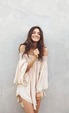 On a cool Summer day, go for a comfy and chic boho dress.
