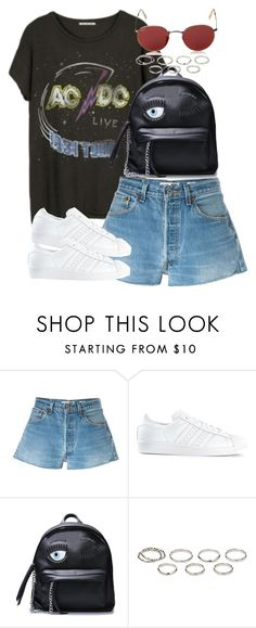 """""""Sin título #4031"""" by hellomissapple on Polyvore featuring moda, Junk Food Clothing, RE/DONE, adidas, Akira y Ray-Ban"""