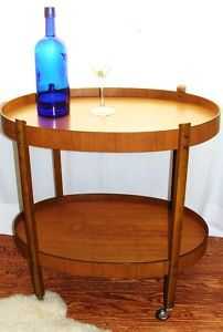 Vtg. mid-century Modern Danish Eames Era Two-Tier Bar/ Tea Cart (yes!)