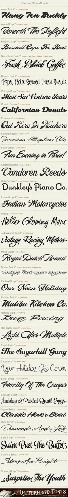 Letterhead Fonts / Script Fonts