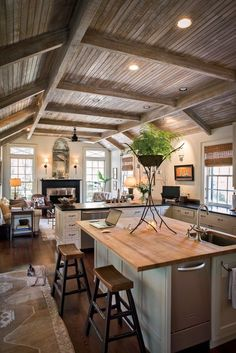 My dream kitchen complete with sitting area. A riverside refuge in Savannah
