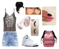 """""""A Monday ay school"""" by baby-naja on Polyvore featuring R13, Victoria's Secret, NIKE, Casetify, Beats by Dr. Dre, Quay, vs and polyvoreeditorial"""