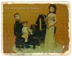 Le Creazioni di Sasha: Wedding cake topper and piano, un cake topper col ...