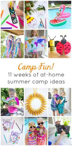 Preschool Summer Camp, Summer Camp Themes, Summer Camp Activities, Summer Camp Crafts, Summer Fun List, Summer Camps For Kids, Camping Crafts, Fun Activities For Kids, Summer Diy
