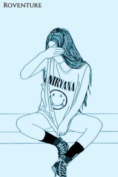 art, band, black and white, draw, drawing - image by . Tumblr Girl Drawing, Tumblr Drawings, Tumblr Art, Girly Drawings, Tumblr Girls, Anime Tumblr, Tumblr Outline, Outline Art, Outline Drawings