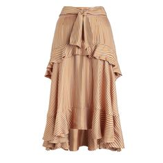 ZIMMERMANN Winsome Flounce Skirt (32.480 RUB) ❤ liked on Polyvore featuring skirts, zimmermann, ruffle skirt, flounce skirt, striped skirt and frilly skirt