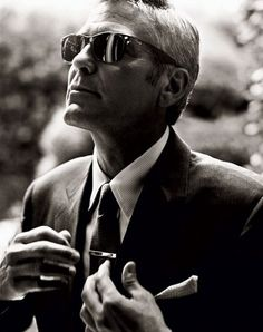 Classic. George Clooney for Vanity Fair.
