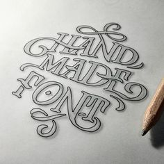 The rough sketch of Hand Made Font.  #handmadefont #brand #branding #lettering…