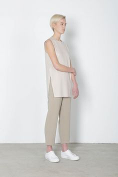 Oak+Fort shift dress and tailored trouser SS16