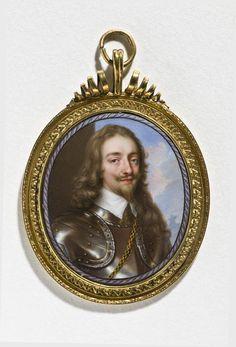Pendant: Portrait of King Charles I Portrait Enamel of Charles I c. 1638 Petitot, Jean I (Swiss miniaturist and enameler, 1607-1691)