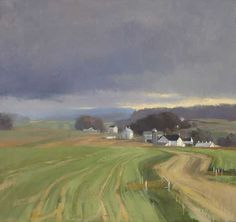 Jeffrey Reed, Early Fields, oil on canvas, 14.5 x 16 inches